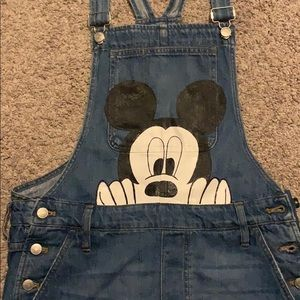 Disney Mickey Mouse shorts overalls adult large